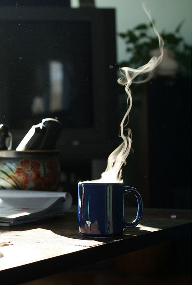 Coffee-and-steam