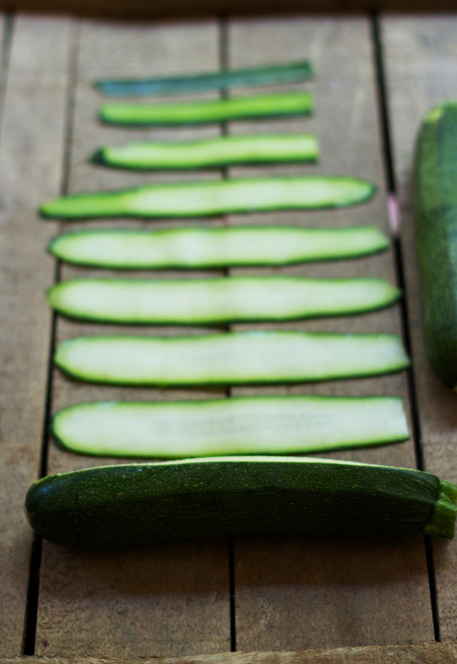 Sliced-courgette