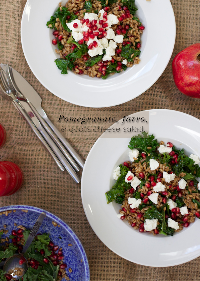 Eating-Seasonally-Pomegranate-farro-and-goats-cheese-salad-pomegranate-vinaigrette