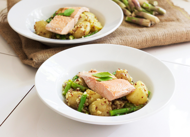 Roasted Salmon And Asparagus Salad With Mustard Vinaigrette Recipes ...