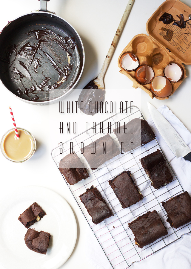 White-chocolate-and-caramel-brownies
