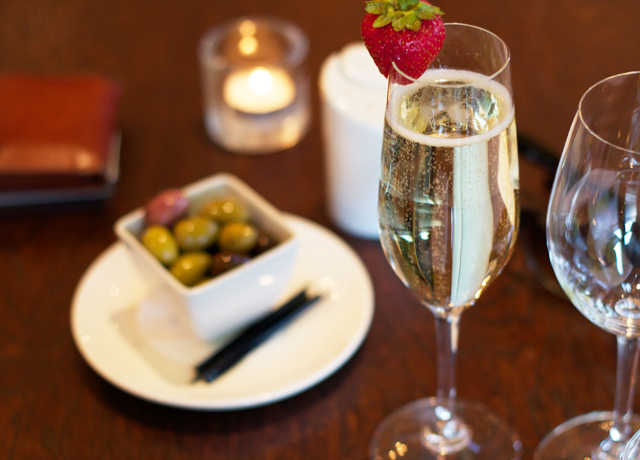 Champagne-and-olives
