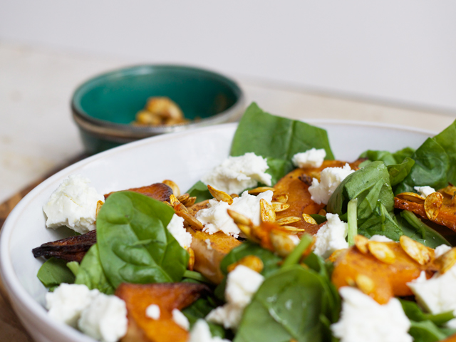 Butternut-squash-feta-and-spinach-salad