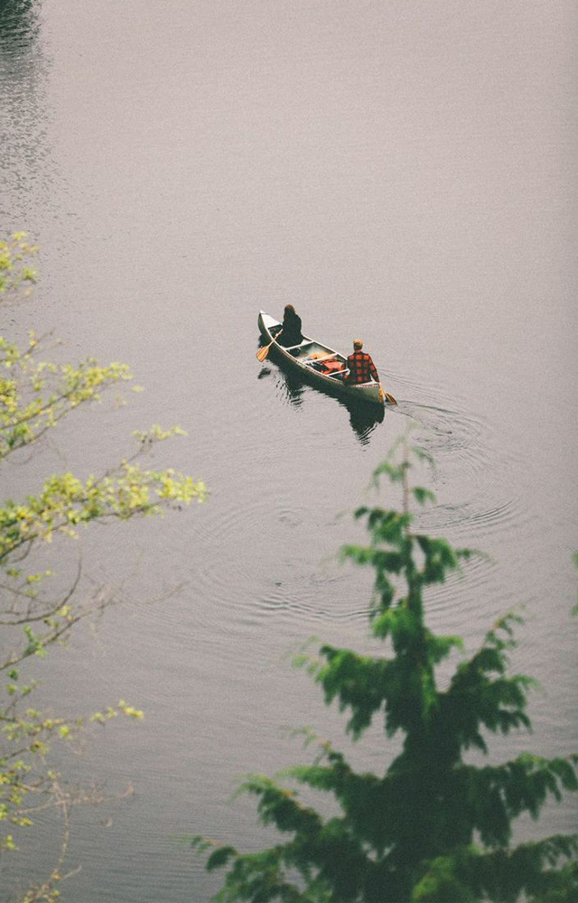 Canoe-on-lake