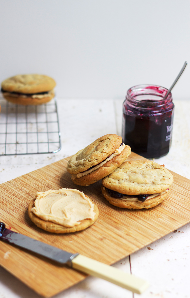 Peanut-butter-and-jam-sandwich-cookies