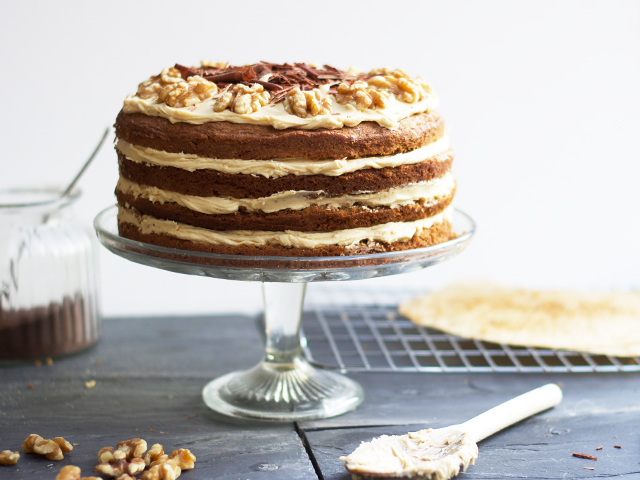 Coffee-and-walnut-cake-recipe