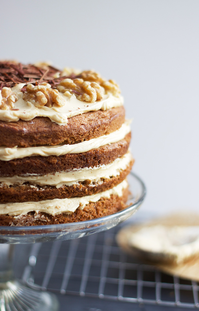 Coffee And Walnut Layer Cake Recipe