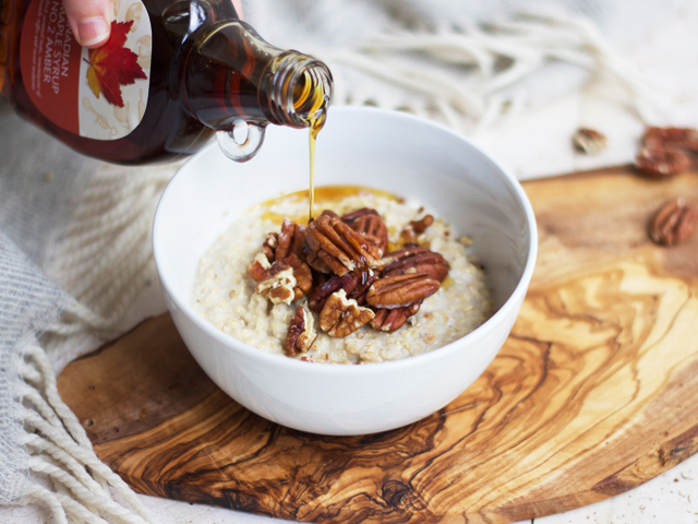 Maple-and-pecan-porridge