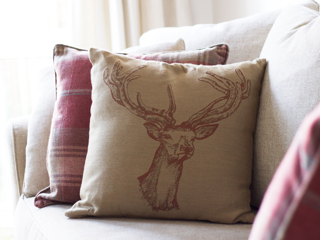 Stag-and-tartan-cushions-Cider-with-Rosie-blog